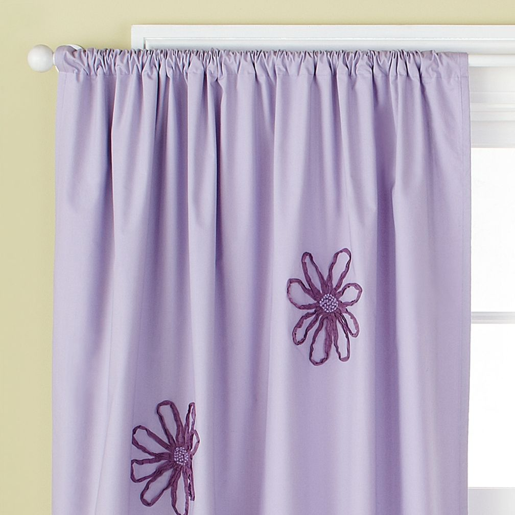 84&quot; Lavender Flower Curtain Panel